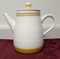 Vintage Franciscan Earthenware Hacienda Gold Coffee Pot With Lid