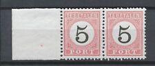 Nederlands Indië Port  6 C + B II postfris tandingspaar (3)