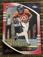 2020 Absolute Football Jerry Jeudy Red White Blue Prizm /199 Rc Rookie Broncos
