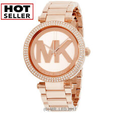 bd1726b1d1e3 New Michael Kors Women s Parker MK5865 Rose-Gold Stainless-Steel Fashion  Watch
