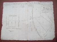 1837 MAPPA CATASTALE DELLA ZONA DI BIELLA FRA IL TORRENTE CERVO E IL CHIEBBIA