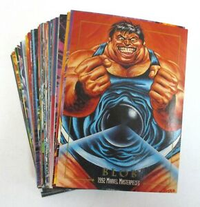 1992 MARVEL MASTERPIECES Complete Trading Card Base Set 1-100 SkyBox