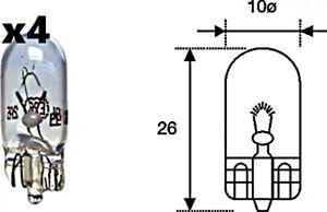 x4 Stk Blinker Glühlampe W5W 12V 5W W2.1x9.5d