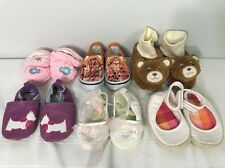 6 Newborn Girl Size 0-12 Shoes Lot Baby Toddler Mixed Footwear Children Clothing