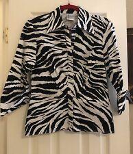 Fabulous Finley Zebra Print Top Size M