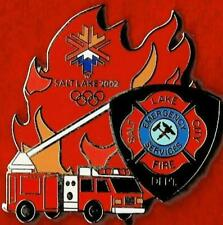 LE 2002 Salt Lake City SLCFD Emergency Services Olympic Games Mark Pin