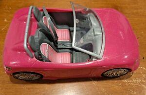 2013 MATTEL BARBIE CAR PINK CONVERTABLE CRUISER SPORTS CAR   BDF38