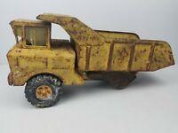 Vintage Antique Nylint Yellow Metal Dump Truck Model Toy (Missing Wheels)