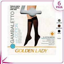 6 PAIA GAMBALETTI DA DONNA GOLDEN LADY TREND COTTON