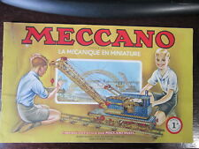 CATALOGUE MECCANO  BOITE N°1A 1948/54 10 PAGES
