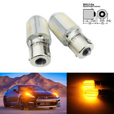 2x PY21W BAU15s 581 COB LED Bulbs Indicator Sidelight Tail Brake Reverse Light