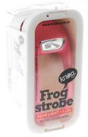 KNOG FROG Strobe Rose Rear Single RED LED Bike Light Silicone 2.5 Lumen Pink NEW