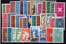 EUROPA: ANNEE COMPLETE 1963 DE 36 TIMBRES NEUF* Cote: 119,00 €