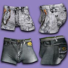 Sous-vêtements Sexy Jeans Hommes Coton Imprimé Caleçon Boxer Caleçons Short TY