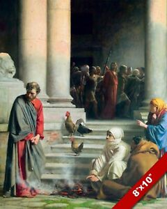 PETER DENIAL OF CHRIST BLOCH CHRISTIAN BIBLE PAINTING ART PRINT ON REAL CANVAS