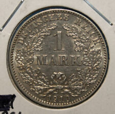 Germany 1 Mark 1910-E Uncirculated Silver Coin