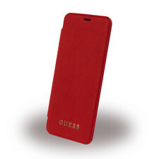 Genuine GUESS Iridescent Collection Book Case for Samsung S8 in Red