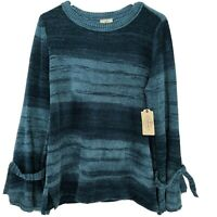 """St Johns Bay Women's Teal Blue """"Deep Lagoon"""" SOFT Sweater Size Large NWT"""