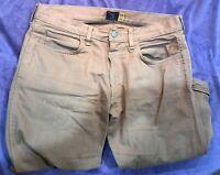 J Crew 770 Denim Slim Straight Fit Jeans Sz 32x32 Mens Khaki Chinos Brown