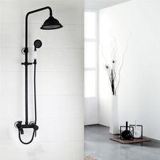 "Bathroom Shower Faucet Set 8"" Rain Shower Head + Hand Sprayer Oil Rubbed Bronze"