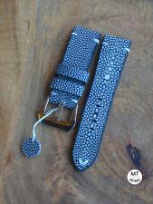 24mm Cinturino razza blu Stingray Leather Pam Watch Strap 24 Handmade In Italy
