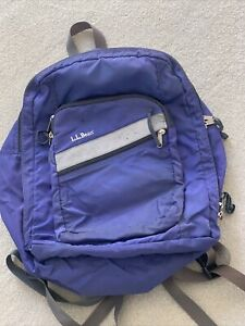 LL BEAN Both Classic Backpack BOOK BAG Purple NYLON