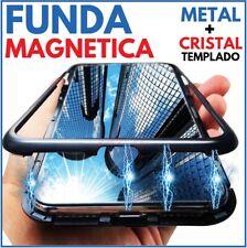 FUNDA MAGNETICA METALICA NEGRA CRISTAL TEMPLADO TRASERO PARA APPLE IPHONE 8 / 8G
