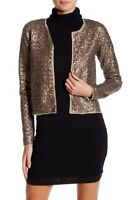 NEW Zadig & Voltaire Sequin Wool Blend Cardigan in Mole - Size M #S1089