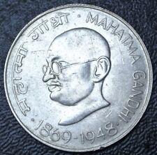 1869-1948 INDIA - 10 RUPEES - .800 SILVER - Mahatma Gandhi - Mumbai - Nice -1969
