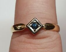 Gold Ring 585er Sapphire Look