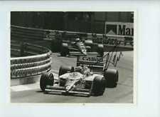 Nelson Piquet Williams FW11B Grand Prix de Mónaco 1987 Firmado fotografía de prensa 2
