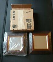 HOME INTERIORS Impressions Dallas Wood Craft Gold Frame Mirror Set of 2 NIB 1254