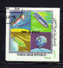 YEMEN  1969  MAN IN SPACE  MINT  VF NH  O.G  BLOCK OF 4  CTO  (a)
