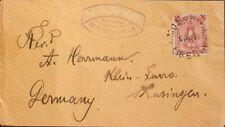 Liberia. Sobre Yv 31. 1893. 12 ctvos carmín. MONROVIA a KLEINFURRA (ALEMANIA).