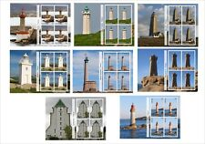 2011 LIGHTHOUSES OF FRANCE 8 SOUVENIR SHEETS MNH UNPERFORATED LIGHTHOUSE