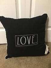 "Rae Dunn Black ""LOVE"" Toss Pillow"