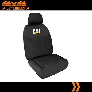 SINGLE CATERPILLAR CAT 12oz CANVAS SEAT COVER FOR TRIUMPH TR 2