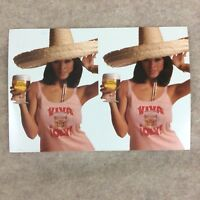 Vtg Cerveza Olympia 1978 Breweiana Beer Advertising Pamphlet Table Sign Woman.