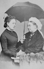 Queen Victoria Queen of England and Princess Beatrice 7x5 Inch Reprint Photo