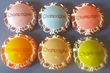 """lot de 6 capsules de champagne  génériques """"art contemporain"""" n°947 à 947e"""