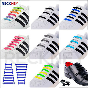 Elastic Shoe Laces for Trainers Black White Shoelaces Adults Kids Trainers Shoes