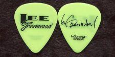Lee Greenwood 2013 Tour Guitar Pick! Lee's custom concert stage Pick #1