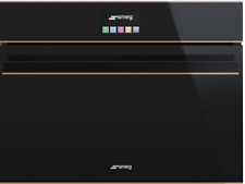 SMEG SF4604MCNR Mikrowellenherd, schwarzes Glas. Ästhetik Dolce Stil Neu