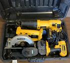 DEWALT 18-Volt Cordless 3 Tool Combo Kit Drill, 2 Saws, Hard Box