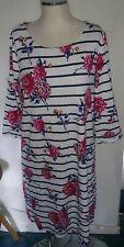 Ladies Nautical Stripe Floral Designer style Harbour Dress Size 18 George