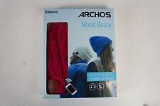 Archos Music Beany Pink Mütze mit Kopfhörer Bluetooth Musik und Telefon