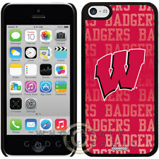 Apple iPhone 5C/i5C/Lite Licensed Shield NCAA Wisconsin Badgers Repeating Case