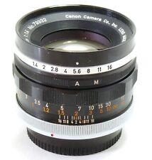Canon 50mm f/1.4 Breechlock FL lens EXC+