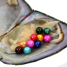 1Pcs Mini Monster Freshwater Oysters with 15 Round 6-7mm Pearls Mixed Colors