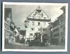Schweiz, Zug, City-Hotel Ochsen Zug  Vintage silver print. Tirage argentique